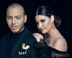ROBERTO RAMOS makeup artist CHIQUINQUIRA DELGADO TV host Miami 2017